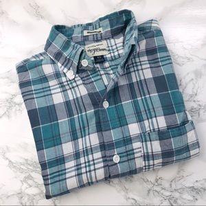 J. CREW Lightweight Plaid Print Button Down Shirt
